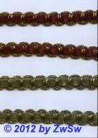 Brokatborte mit Samteinzug rot, 1m