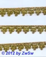 Lurexspitze gold 16mm,  1,65 Meter