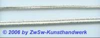 Litze in silber, 3mm, 1 Meter