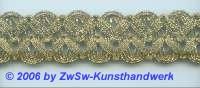 Goldborte altgold 25 mm, 1 Meter