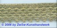 Klöppelspitze 33 mm altgold, 1 Meter
