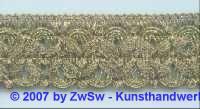 Brokatborte altgold 35 mm, 1 Meter