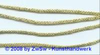 1 Meter Strickkordel 3mm gold