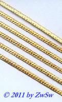 Kordelborte gepunktet,1,8mm gelbgold, 1 Bogen