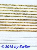 Blümchenborte 3,5 mm, gelbgold, 1 Bogen