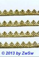 Lilienborte 1,3 cm, gelbgold, 1 Bogen