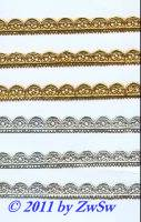 Muschelborte 12mm, gelbgold, 1 Bogen