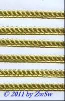 Muschelborte beidseitig geprägt, gelbgold