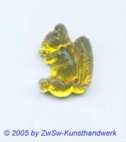 Strassstein 1 Stück, 17mm x 13mm (gelb)
