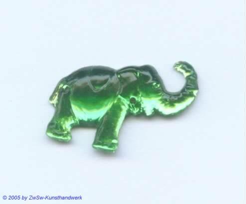 Strassstein Elefanten (smaragd)