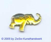 Strassstein Elefanten (gelb)