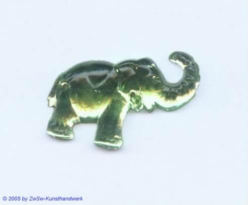 Strassstein Elefanten (peridot)