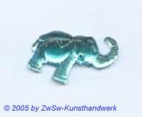 Strasssteine Elefanten (aquamarin)