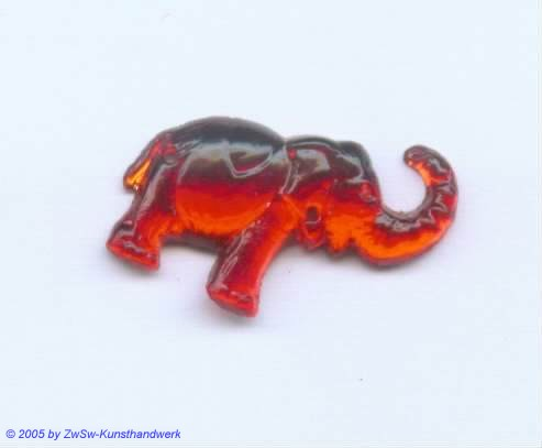 Strasssteine Elefanten (rubin)