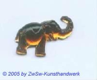 Strassstein Elefanten (dunkeltopas)