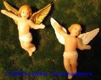Engel mit Wachsflügel, weiß, 7cm