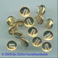 10 Splintfassungen für Strasssteine (9mm gold)