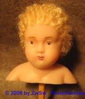 Fatschenkind-Kopf Haare blond