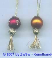 1 Minichristbaumkugel rot