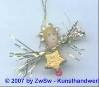 1 Christbaumanhänger mit Wachskopf