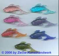 Fisch Acrylglas 1 Stück rosa