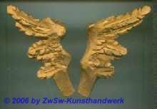 Flügel aus Wachs, 14cm, unbemalt