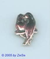 1 Strassstein Vogelpaar (amethyst)