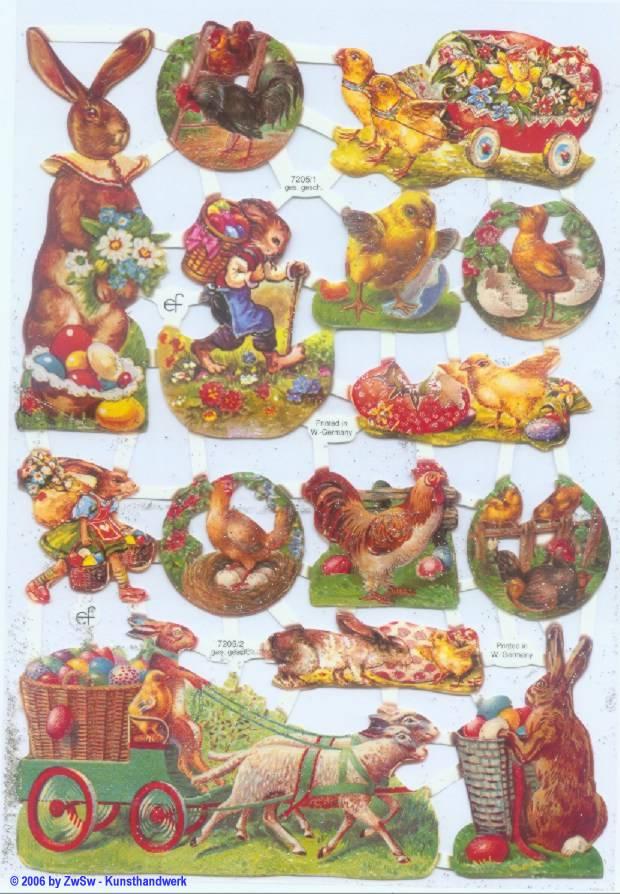 Glanzbild Ostern