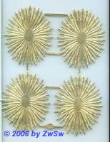 Heiligenschein oval, ca. 6cm x 4,7cm, 4 Einzelstück