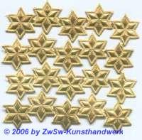 Stern, einseitig gold, Ø 17mm