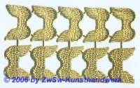 Engelsflügel, beidseitig gold, ca. 35mm x 26mm