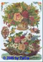 Glanzbild Blumenkorb