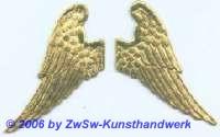 Engelsflügel, beidseitig gold, ca. 55mm x 25mm