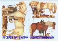 Glanzbild Pferde