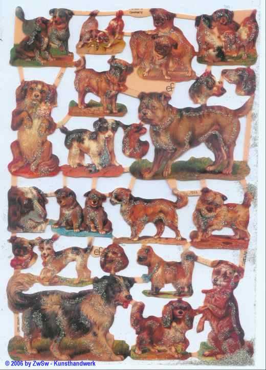 Glanzbild Hunde