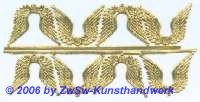 Engelsflügel, beidseitig gold, ca. 27mm x 33mm