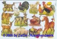Glanzbild Tierkinder