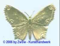 Schmetterling einseitig gold 1 Stück