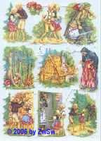 Glanzbilder Hänsel und Gretel I