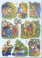 Glanzbild Hänsel und Gretel II