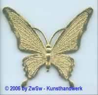 Schmetterling in gold 1 Stück