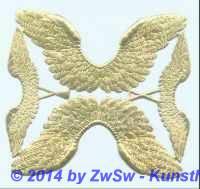 Engelsflügel in 2 Größen, gold