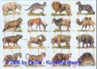 Glanzbilder Tiere Afrika ohne Glimmer