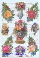 Glanzbild Rosenbouquets ohne Glimmer