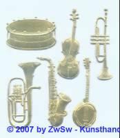 Instrumente goldgeprägt 6 fach sortiert