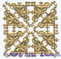 Eckelement, einseitig gold, ca. 35mm x 18mm