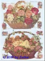 Glanzbilder Rosenkorb ohne Glimmer