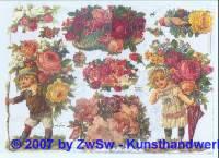 Glanzbilder Blumenkinder ohne Glimmer