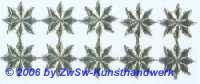 Stern, einseitig silber, Ø 17mm