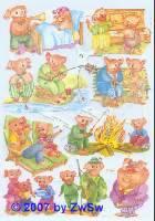Glanzbilder Schweinchen ohne Glimmer